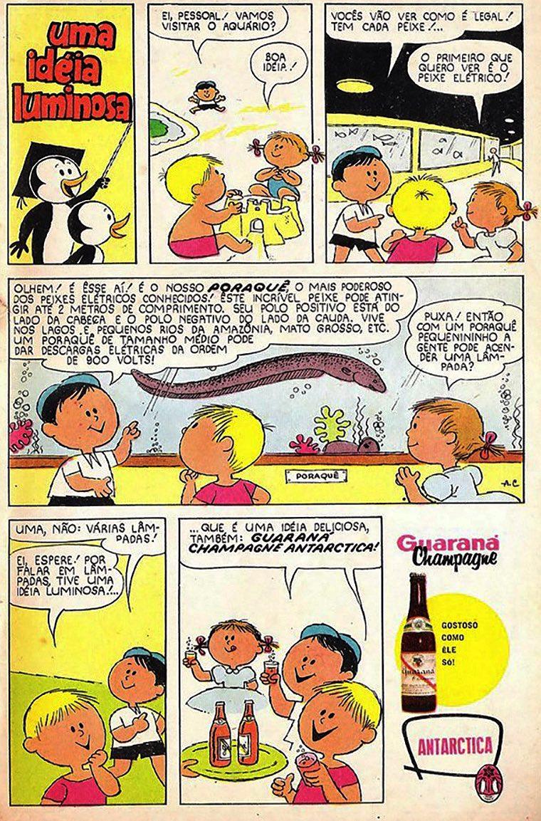 Propaganda antiga da Antarctica promovendo o Guaraná Champagne 1963