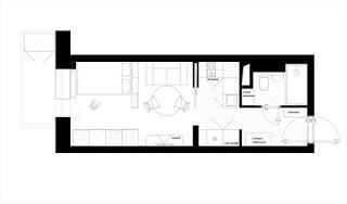 Decoração de um apartamento pequeno com apenas 25 m2