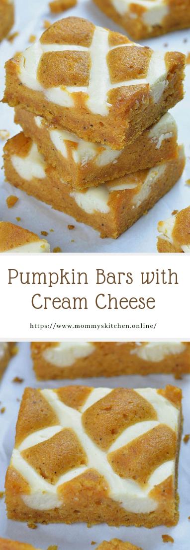 Pumpkin Bars with Cream Cheese #recipe #desserts