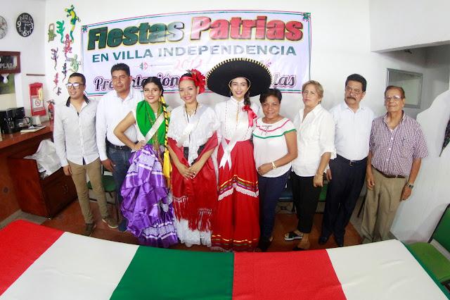 Presentan Corte Real de Fiestas Patrias de Villa Independencia