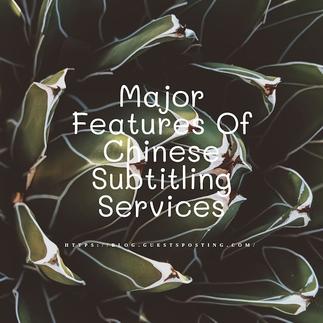Major Features Of Chinese Subtitling Services