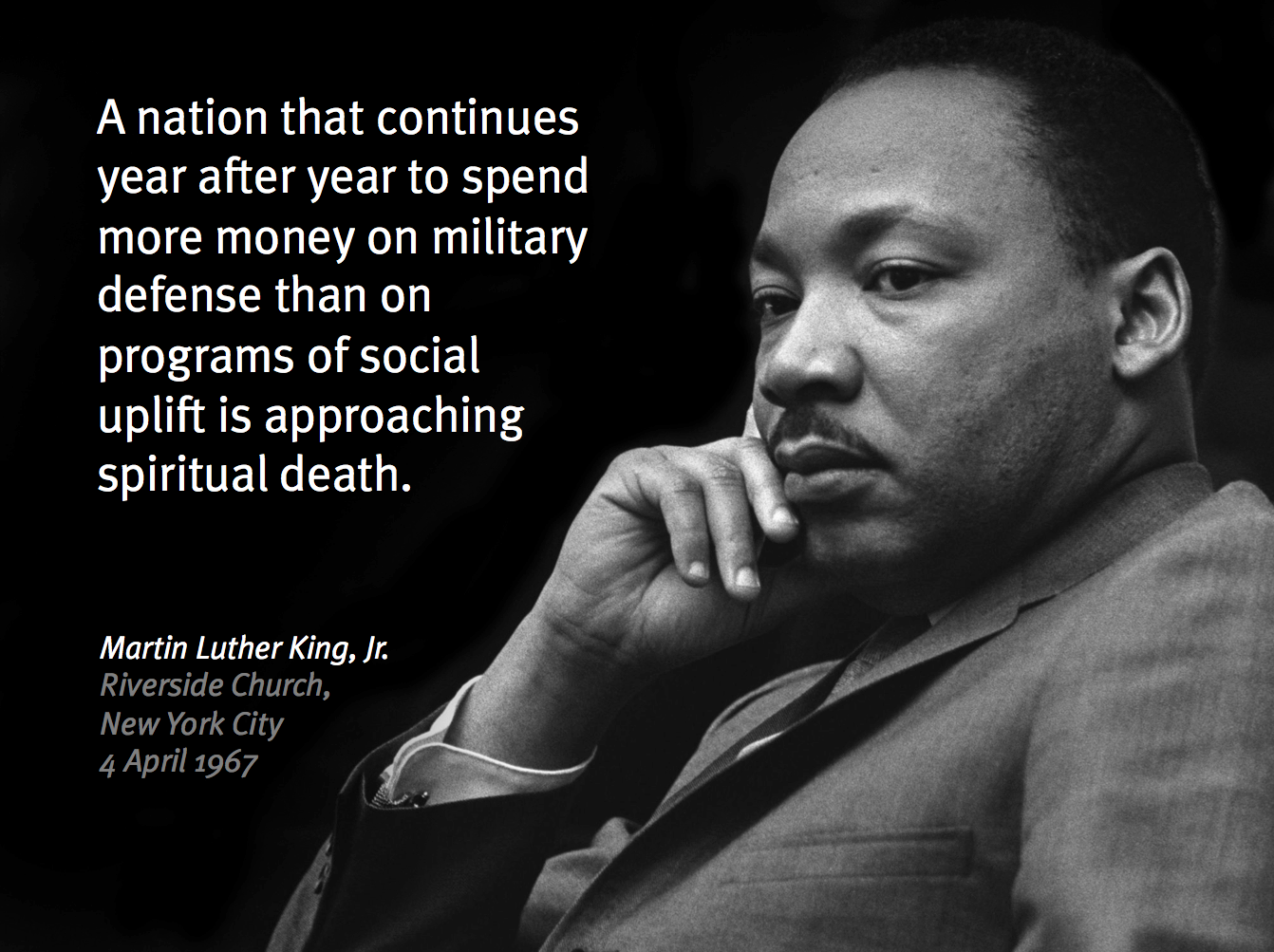 Dr martin luther kings voice against the vietnam war