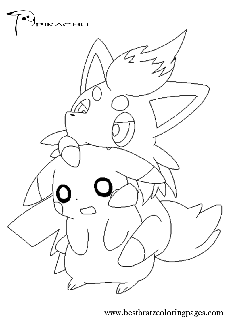 piplup coloring pages | Pikachu Coloring Pages