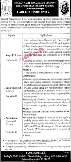 multan-waste-management-company-mwmc-jobs-2021