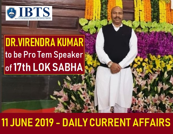 11 June 2019 - Daily Current Affairs