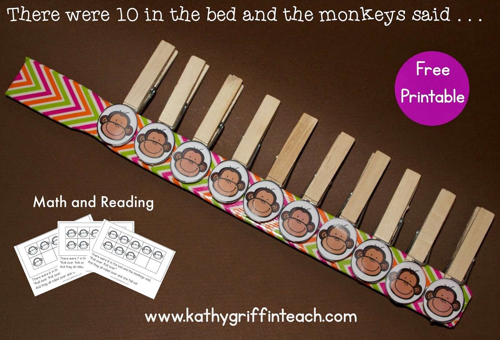 Kathy Griffin S Teaching Strategies 10 In The Bed Math And Literacy Activities