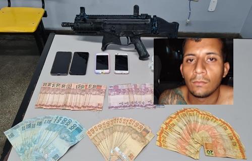 VÍDEO: Polícia prende com submetralhadora um dos criminosos responsáveis por ataques e incêndios em Manaus