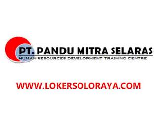 Loker Solo, Ngawi dan Magetan Agustus 2020 di PT Pandu Mitra Selaras
