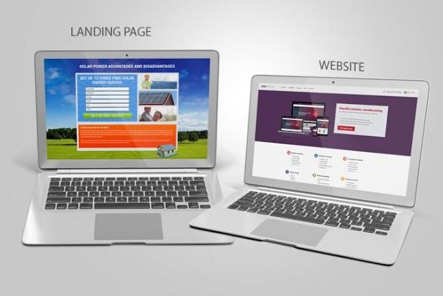 So sánh giữa landing page và website