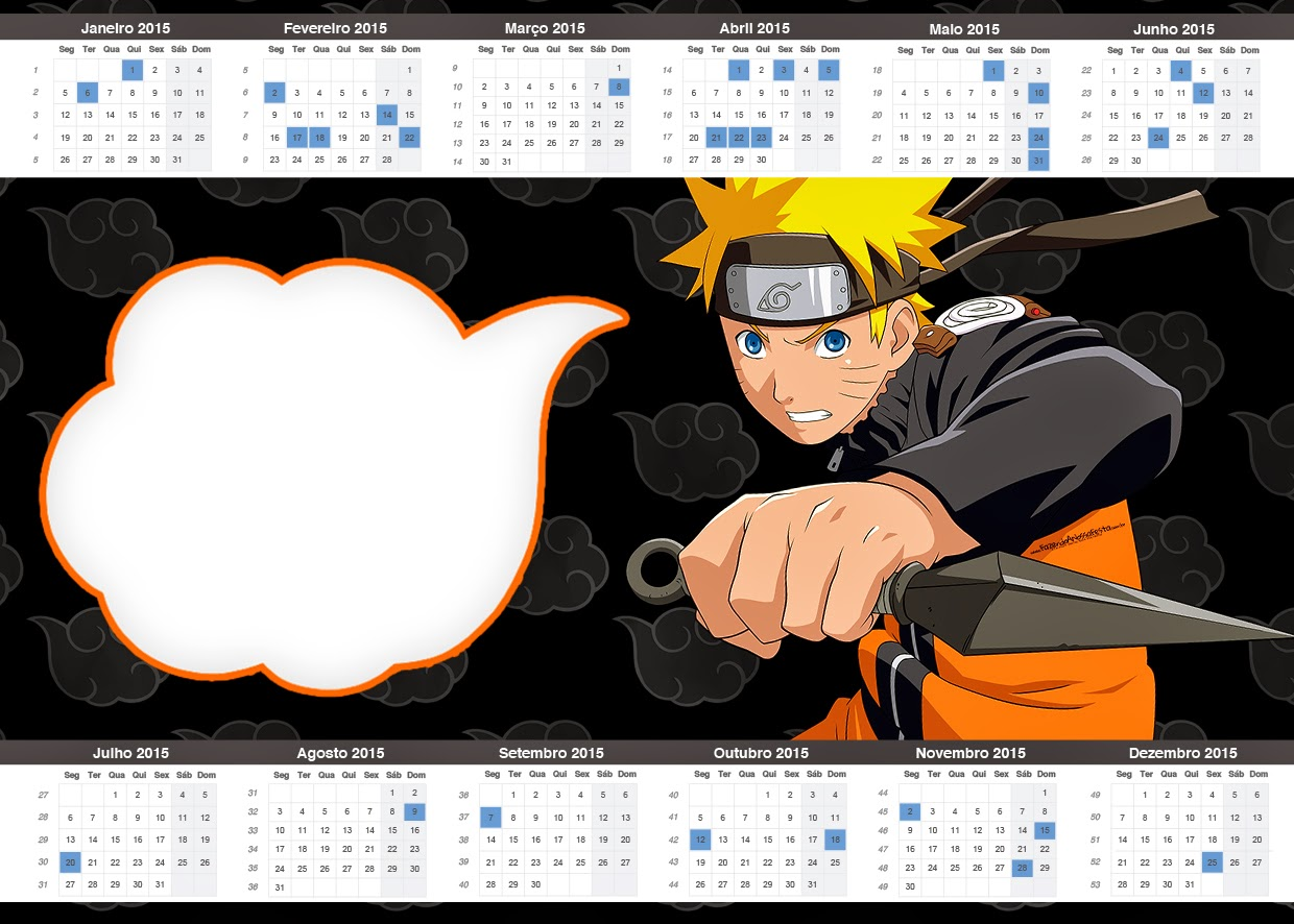 Naruto free party printables oh my fiesta for geeks calendar 2015 of naruto stopboris Choice Image