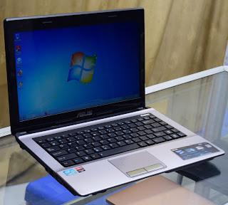 Jual Laptop Design ASUS K43SA Core i3 di Malang