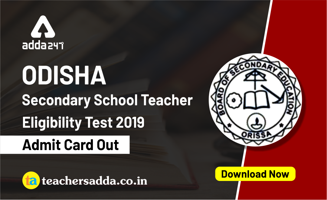 OSSTET 2019 Admit Card Out