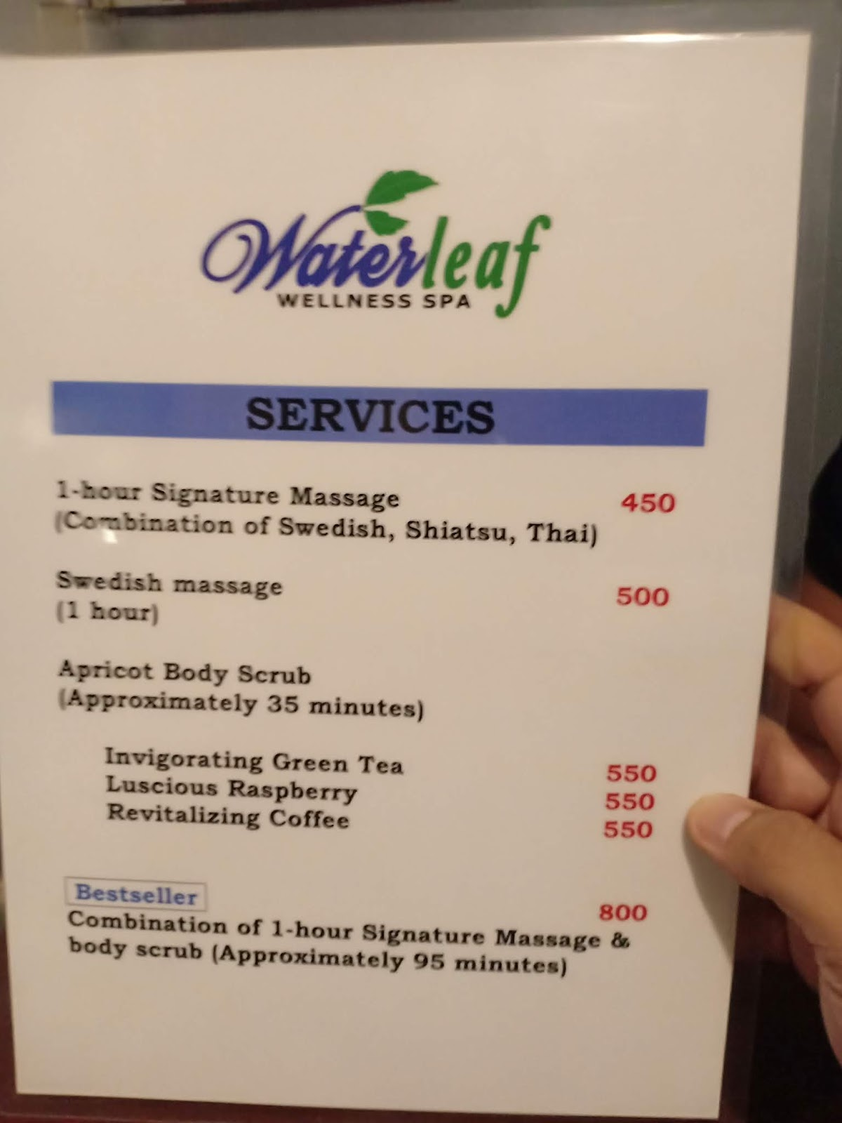 The Spazzling Cubes and Celluloids: WATERLEAF WELLNESS SPA ( Cubao )