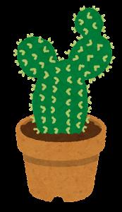 鉢植えのサボテンのイラスト1