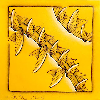 Square One Purely Zentangle November 6-12 with tangle Zanglers.
