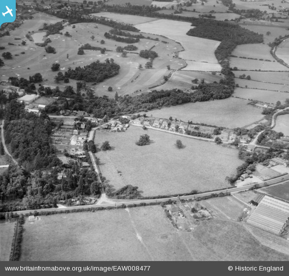 Photograph of Bell Lane and Brookmans Park Golf Course, Brookmans Park, 1947 Image courtesy of Britain From Above