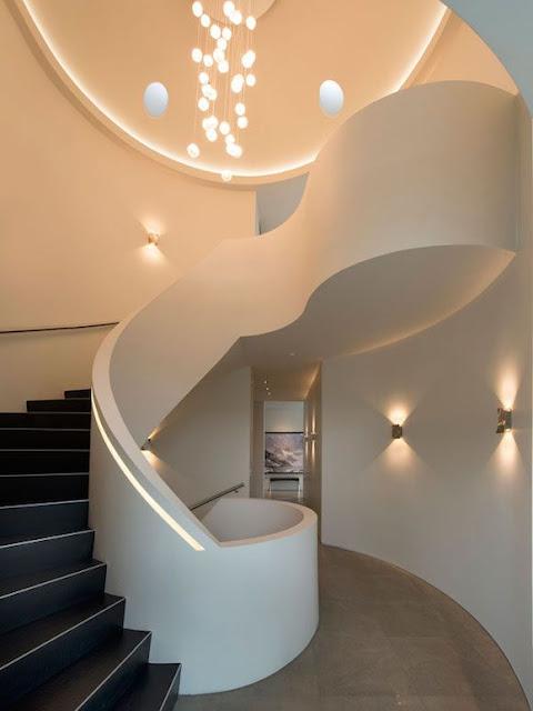 Concrete spiral stair case