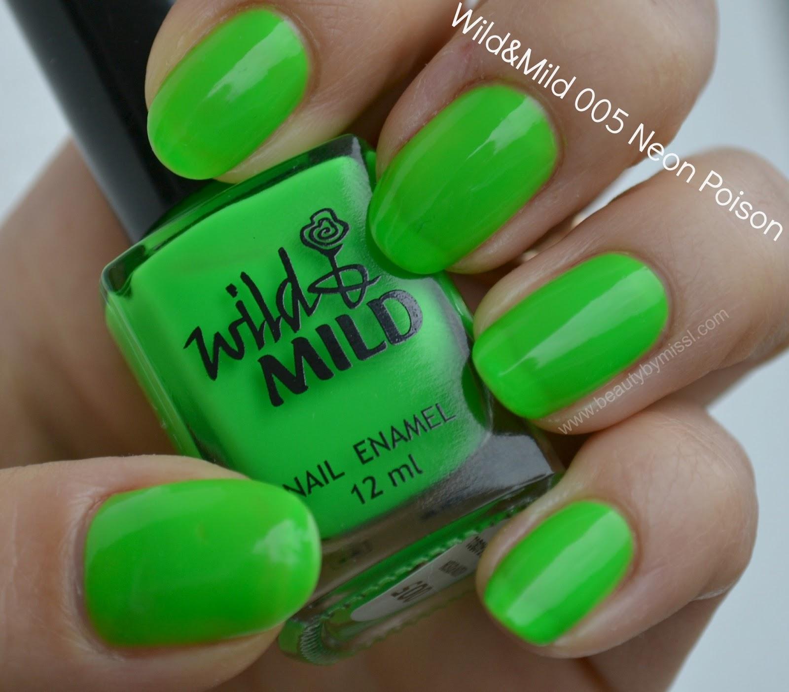 wild&mild nail polish neon poison neon green