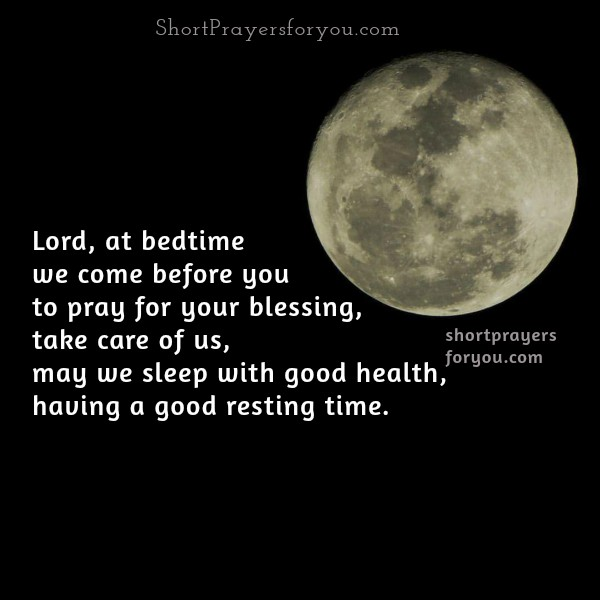 Short Bedtime Prayer, free christian prayer at night, good night with nice prayer by Mery Bracho.