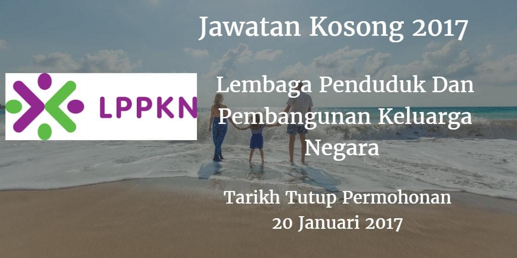 Jawatan Kosong LPPKN 20 Januari 2017