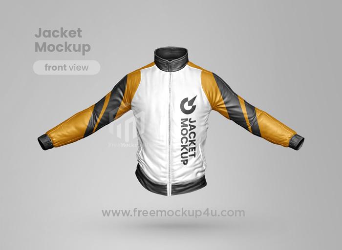 Premium Jacket Realistic PSD Mockup Front View