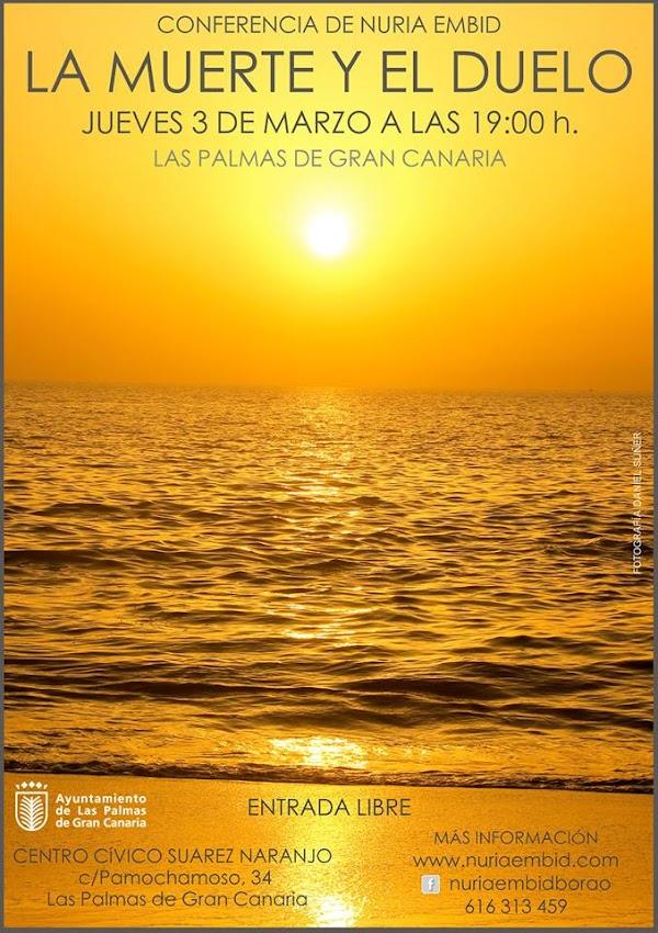 La Muerte y el duelo, conferencia de Nuria Embid, Las Palmas
