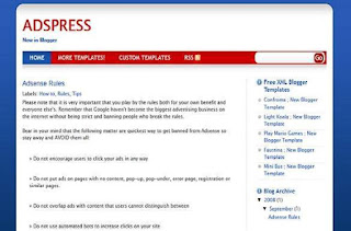 AdsPress - Free Blogger Template - Personal