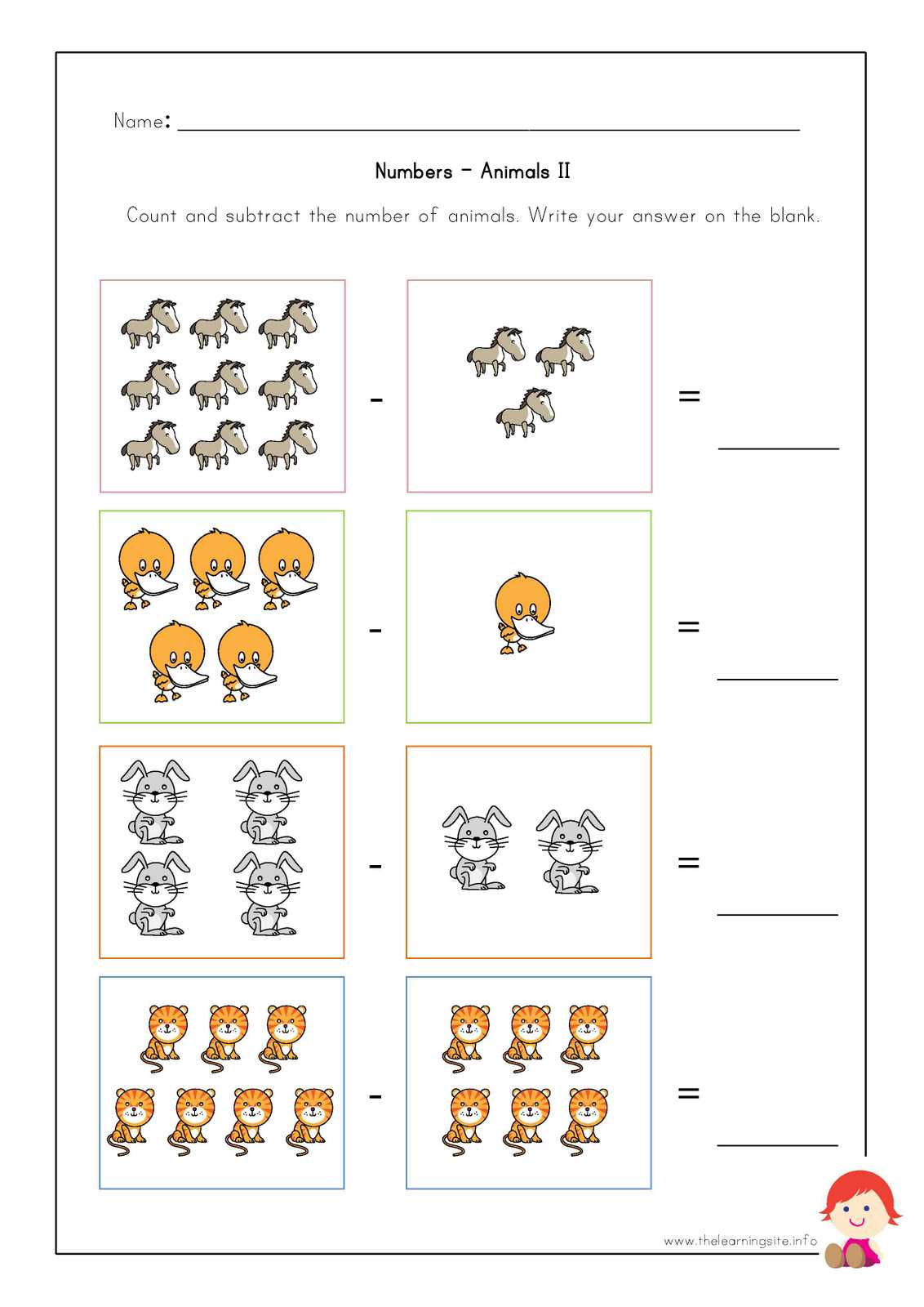 Animal Worksheet New 59 Animal Number Worksheets