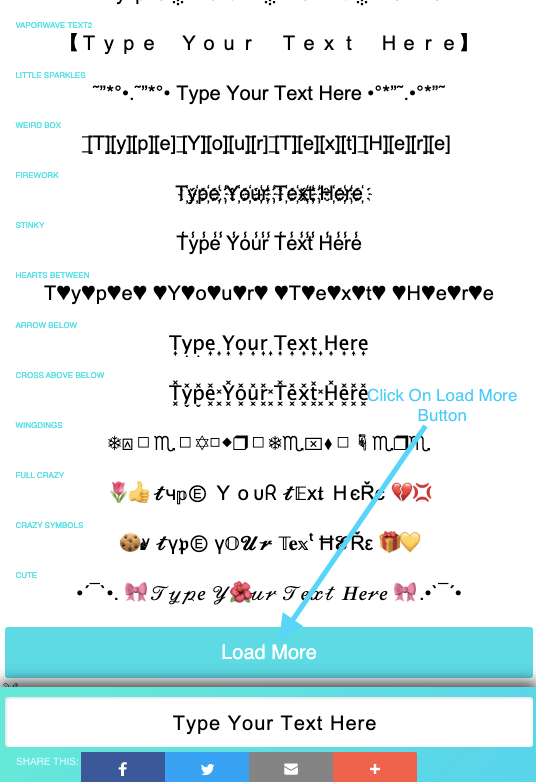 font copy paste - cool text converter website