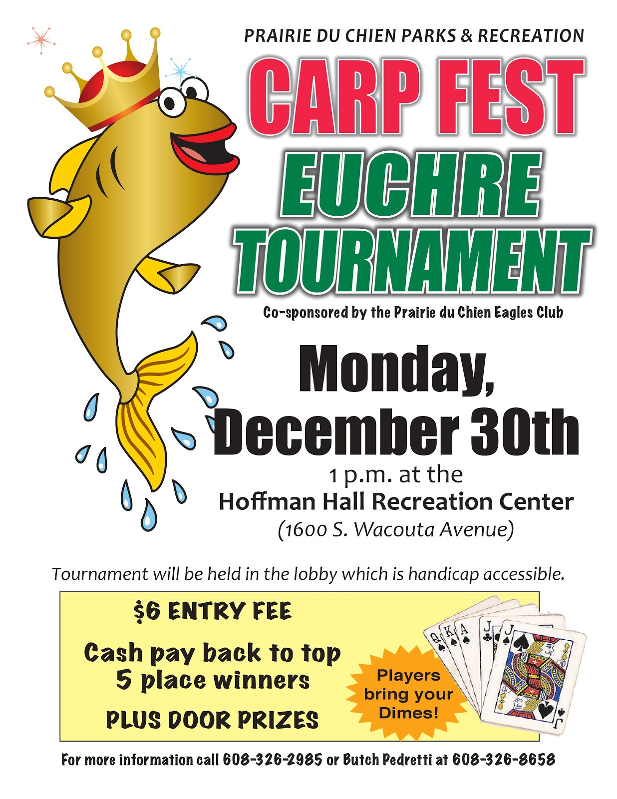 Euchre Tournament - Dec 30