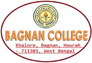 Bagnan College, Khalore, Bagnan, Howrah - 711303, West Bengal