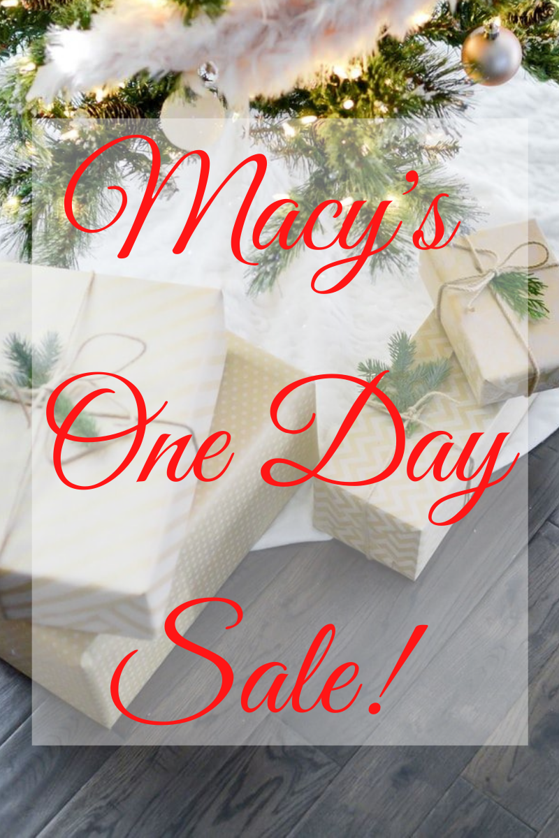 Macy's One Day Sale Friday 12/11
