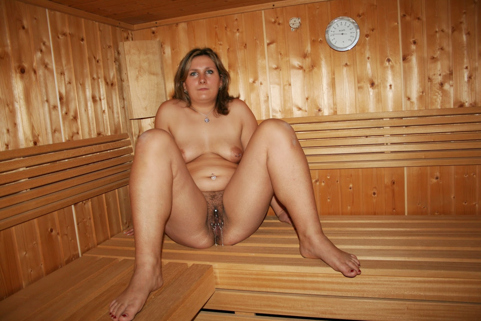 Naked Women In A Sauna
