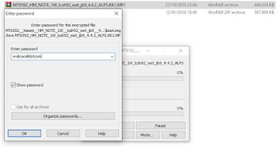 File Password Rom Redmi Note 3G (2013121)