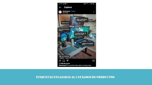 etiquetas enlazadas al catalogo de productos