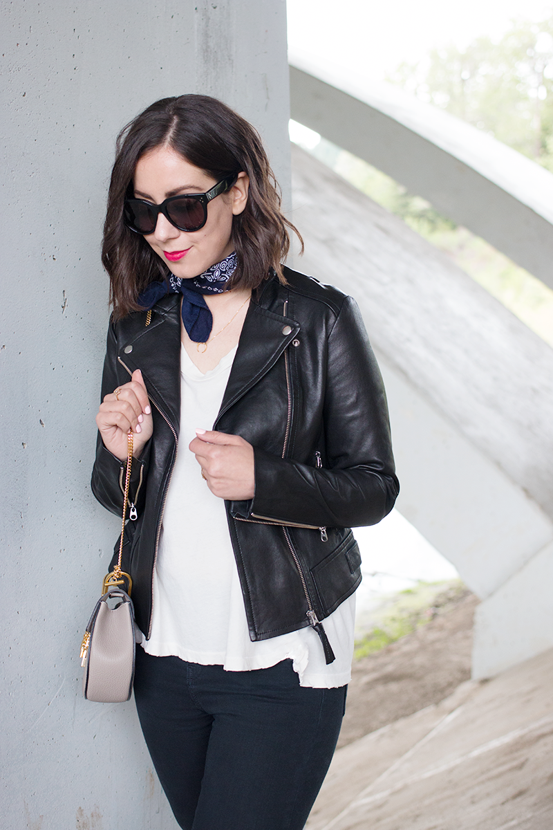 Mackage x Holt Renfrew leather jacket