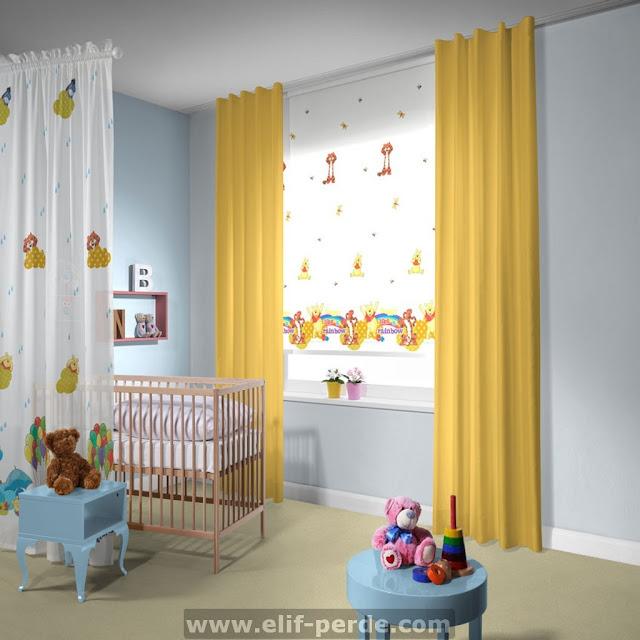 Çocuk Odası Perde Modelleri | Çocuk Odası Perde
