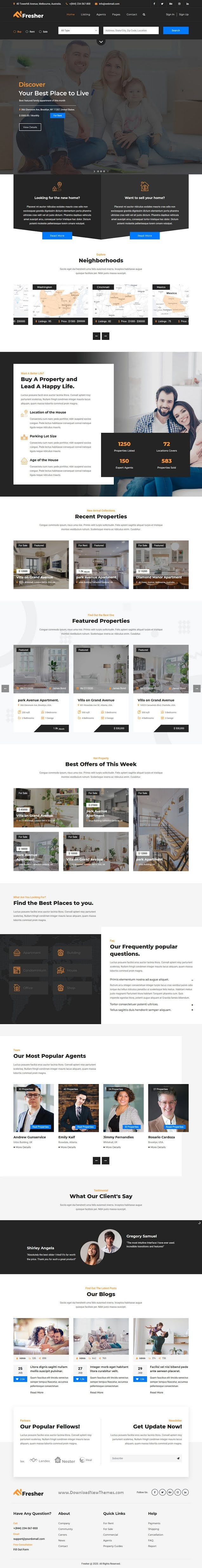 Responsive Real Estate Business Template