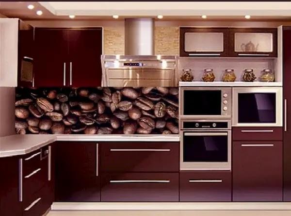 مطابخ المنيوم على شكل خشب