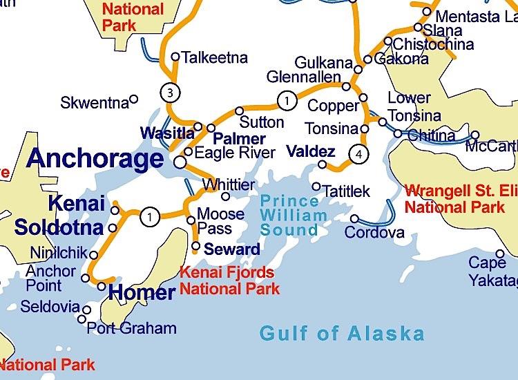 Map Of Alaska - Alaska map with cities