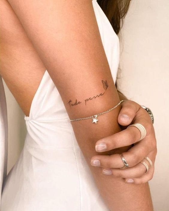 Inspirações de frases para tatuagens
