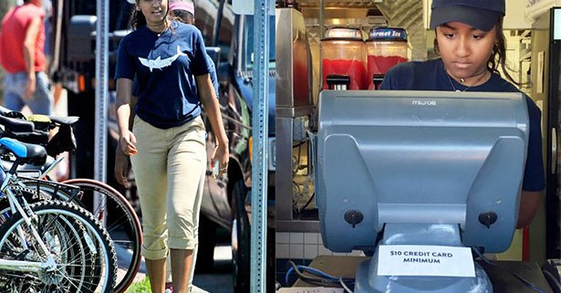 Hija menor Obama, trabaja de cajera en restaurante
