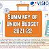 Vision IAS Summary of Union Budget 2021-2022 PDF