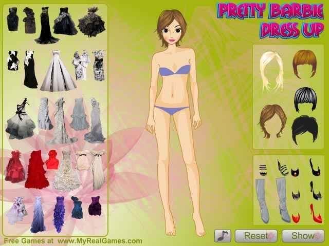 لعبة Pretty Barbie Dress Up