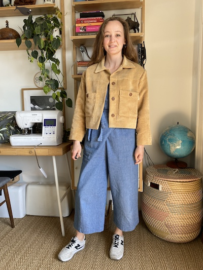 Diary of a Chain Stitcher: Papercut Patterns Stacker Jacket in Gold Corduroy from 1st For Fabrics
