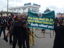Edo Local Government workers protesting today
