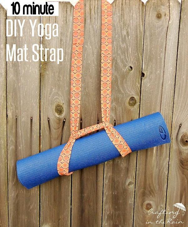 How to make a yoga mat strap