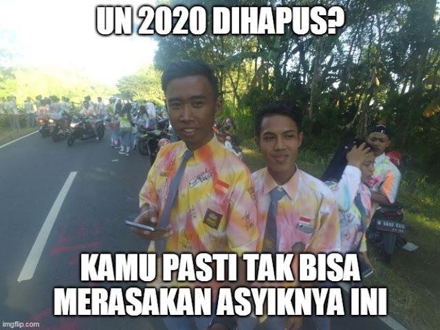 10 Meme Lucu 'UN 2020 Ditiadakan' Ini Bikin Maknyess Hati Murid