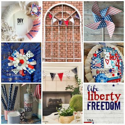 A collection of July 4th patriotic DIY projects from DIY beautify