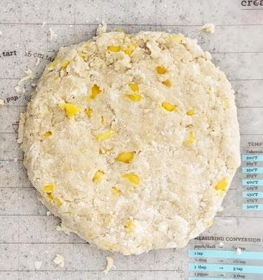 mango almond scone dough